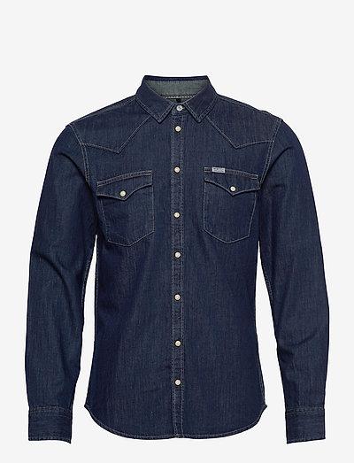 Denim shirt - basic skjorter - denim dark blue