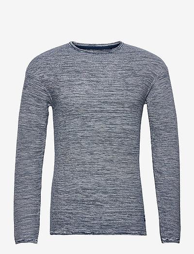 Pullover - basic strik - dark denim