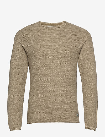 Pullover - basic strik - lead gray