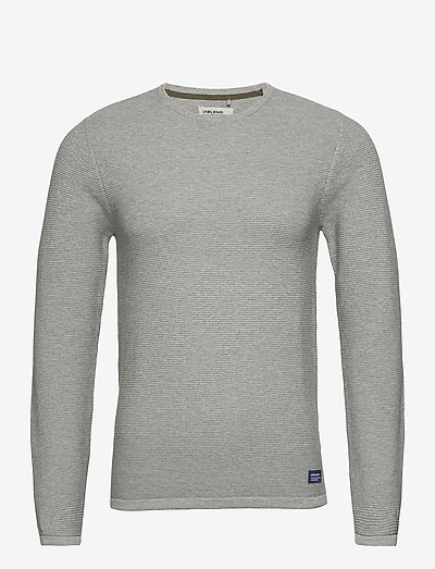 Pullover - knitted round necks - stone mix