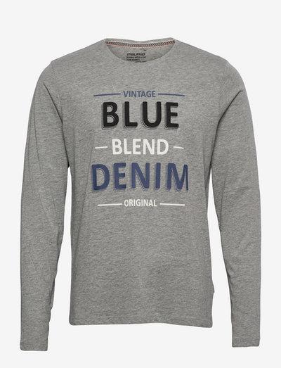 Tee - langærmede t-shirts - stone mix