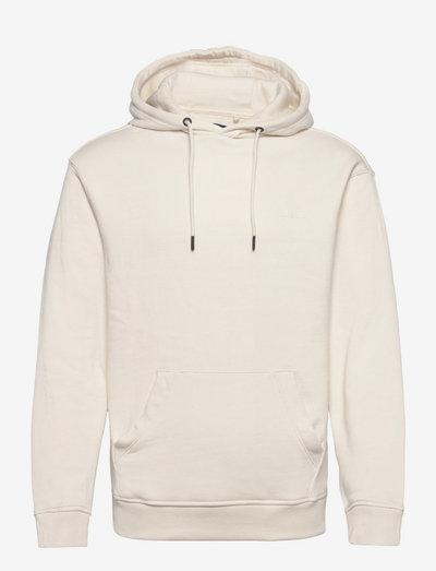 DowntonBH Hood sweatshirt - hættetrøjer - egret