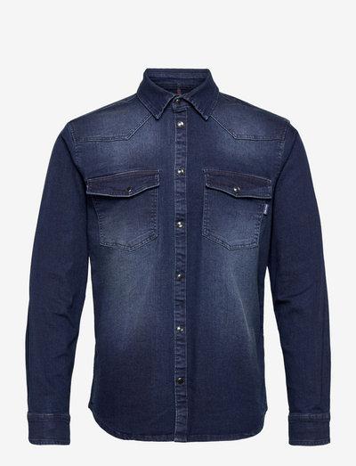 Denim shirt - basic skjorter - denim raw blue