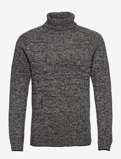 Pullover - basic strik - black
