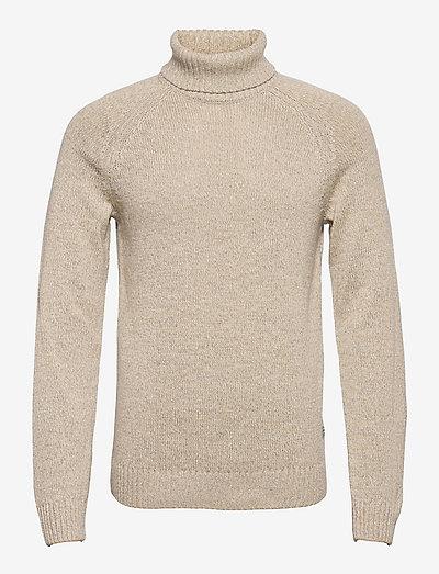 Pullover - basic strik - oyster gray