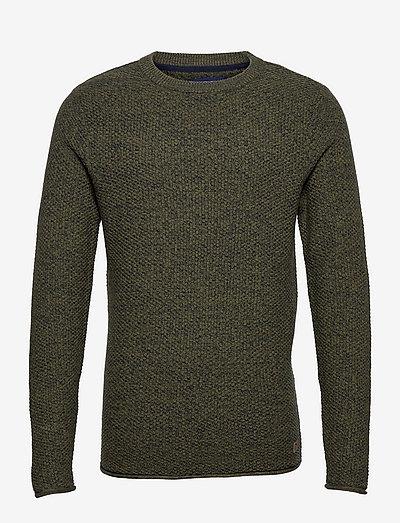 Pullover - basic strik - winter moss