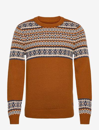 Pullover - rundhals - glazed ginger