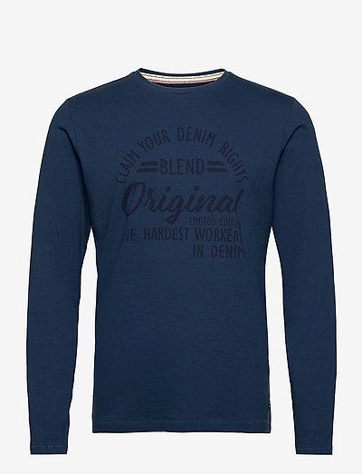 Tee - langærmede t-shirts - ensign blue