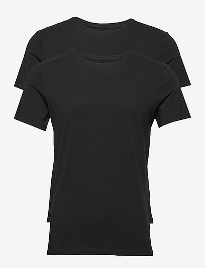 DintonBH Crew neck tee 2-pack NOOS - basic t-shirts - black