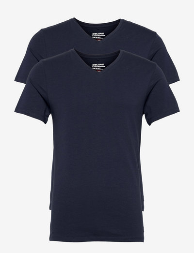 DintonBH V-neck tee 2-pack NOOS - basic t-shirts - navy