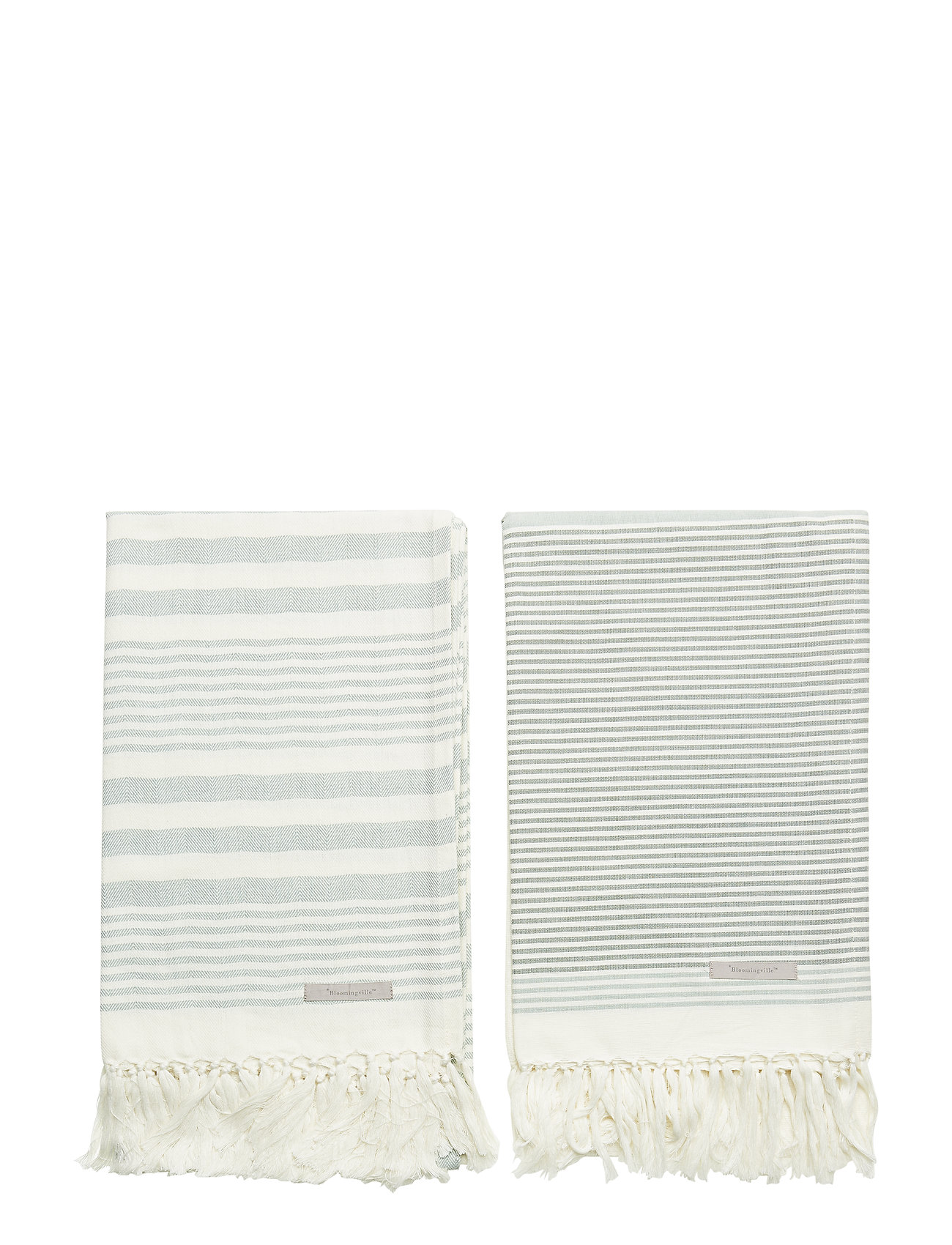 Towel, Green, Cotton - Bloomingville