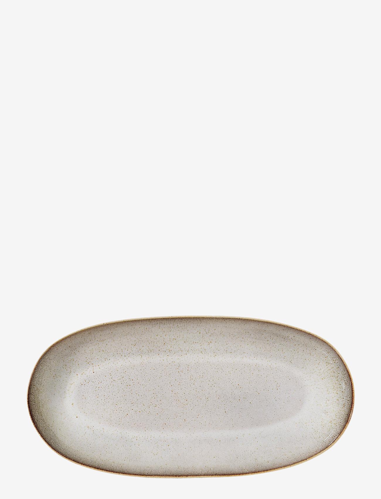 Bloomingville - Sandrine Serving Plate - tarjoiluastiat ja -lautaset - grey - 0