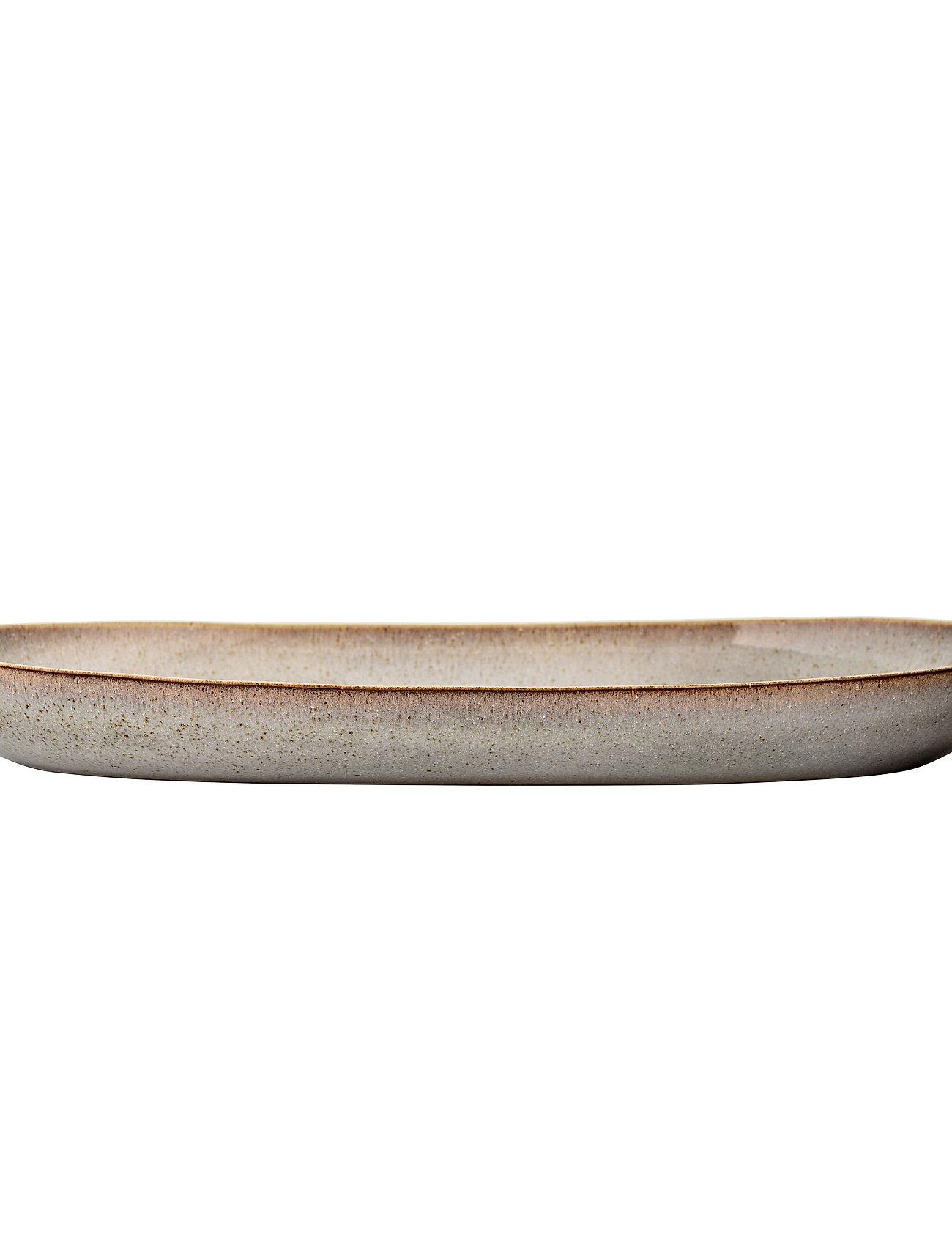 Bloomingville - Sandrine Serving Plate - tarjoiluastiat ja -lautaset - grey - 1