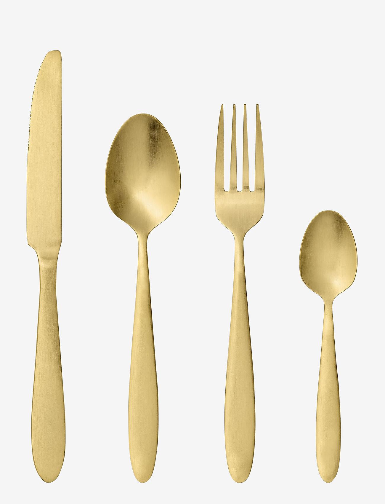 Bloomingville - Sahro Cutlery 4 set - bestikksett - gold - 0
