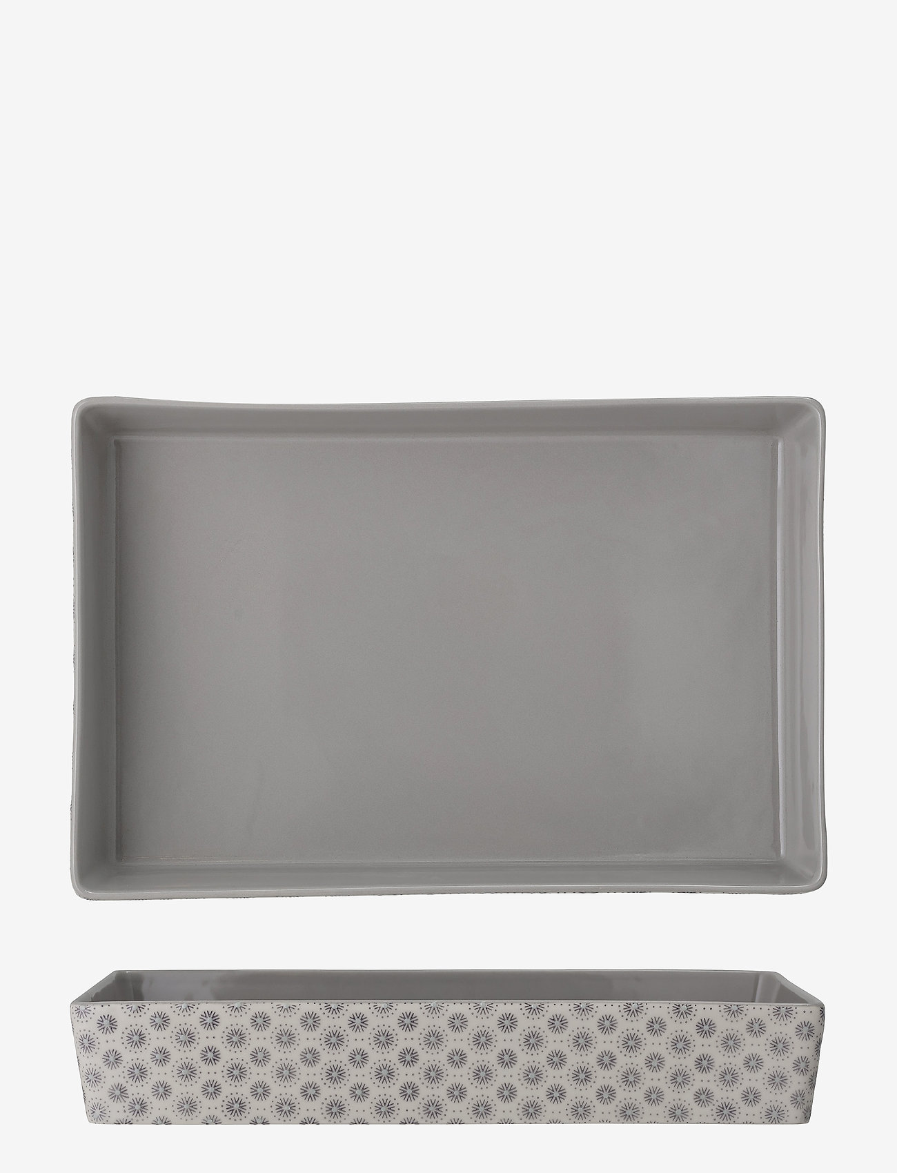 Bloomingville - Elsa Serving Dish - serveringsfat - grey - 1