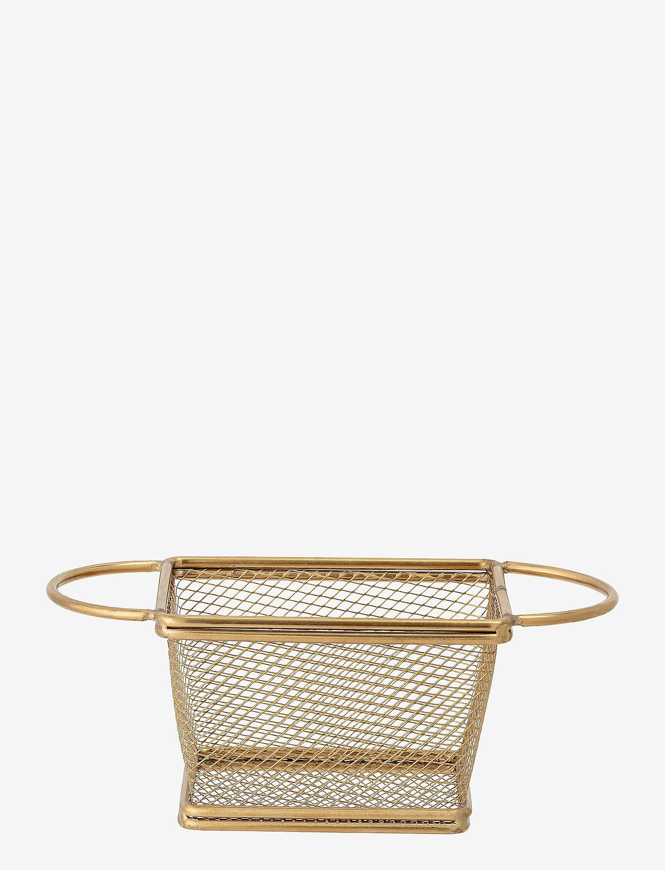 Bloomingville - Harold Serving Basket - tarjoilukulhot - gold - 0