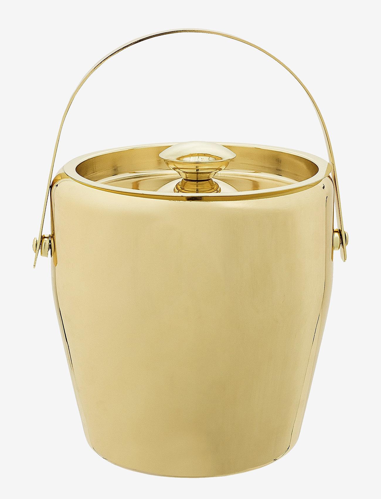 Bloomingville - Cocktail Ice Bucket - isbøtter - gold - 0