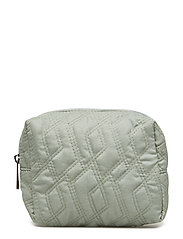 Cosmetic Bag, Green, Polyester - GREEN