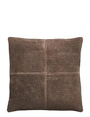 Cushion, Brown, Suede - BROWN