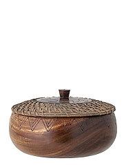 Sava Bowl w/Lid - BROWN