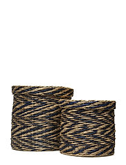 Basket, Blue, Seagrass - BLUE