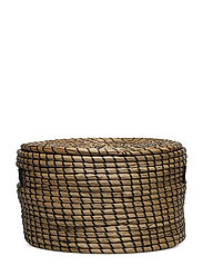 Basket w/Lid, Nature, Seagrass - NATURE