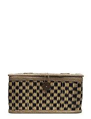 Basket w/Lid, Multi-color, Seagrass - MULTI-COLOR