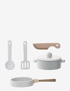 Bahoz Play Set, Kitchen Set of 5 - baking & matlaging - white