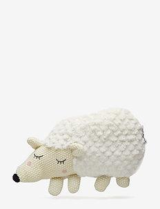 Plush Hedgehog, White, Polyester - WHITE