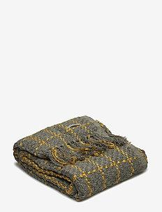 Throw, Grey, Acrylic - blankets - grey