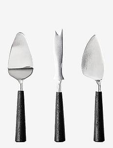Nadi Cheese Utensils 3 pack - ostekniver - black