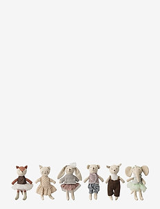 Jeffrey Soft Toy Set of 6 - kosedyr - multi
