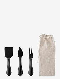 Evalda Cheese Utensils 3-PACK - ostekniver - black