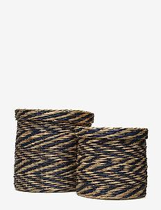 Basket, Blue, Seagrass - BLUE