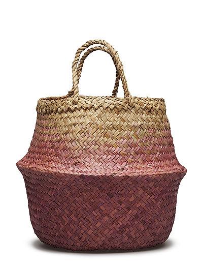 Basket, Purple, Seagrass - PURPLE