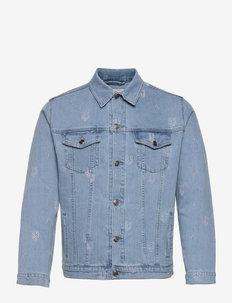 New Allover Denim Jacket - jeansjackor - light blue