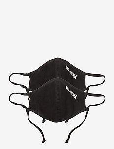 Face Mask - 2 pack - gezicht maskers - black