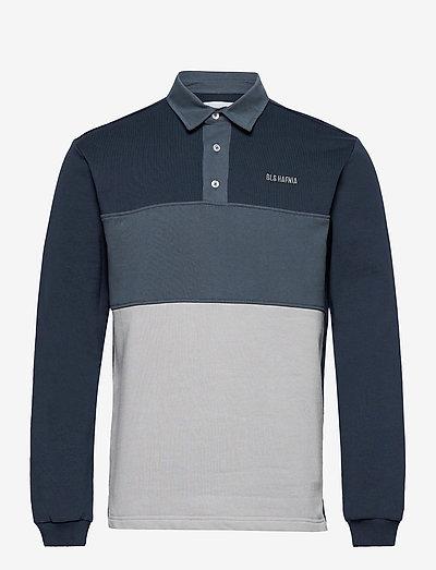Boston Bini LS Polo - långärmade pikéer - grey