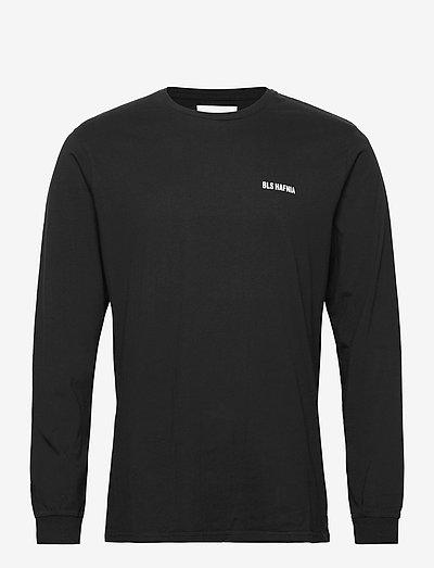 Essential Logo LS T-shirt Black - t-shirts basiques - black