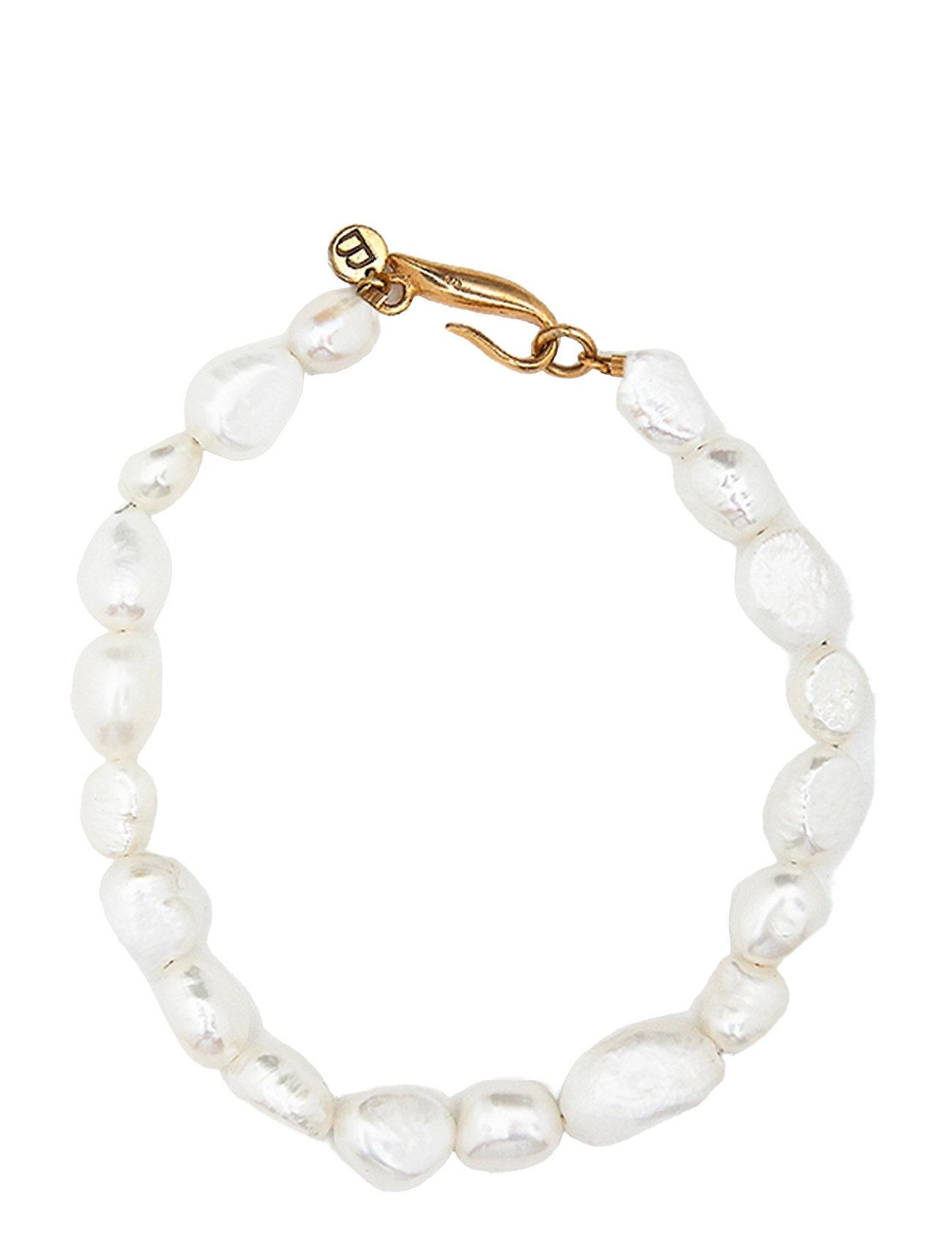 Irregular Pearls Bracelet Accessories Jewellery Bracelets Chain Bracelets Guld Blue Billie