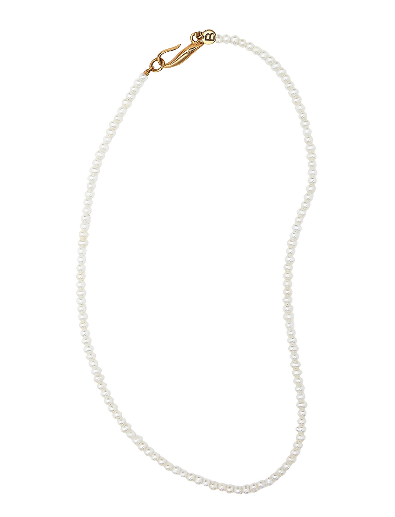 Thin Pearl Necklace Accessories Jewellery Necklaces Dainty Necklaces Guld Blue Billie