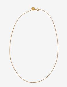 plain chain - colliers - gold