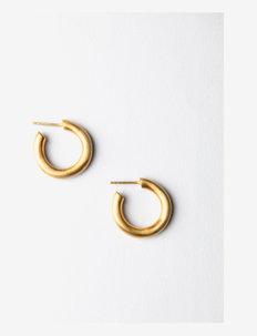 medium hoops matte - cerceaux - gold