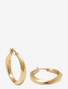medium swirl hoops - cerceaux - gold