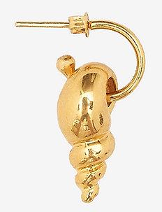 Nucella shell earing - roikkuvat korvakorut - gold