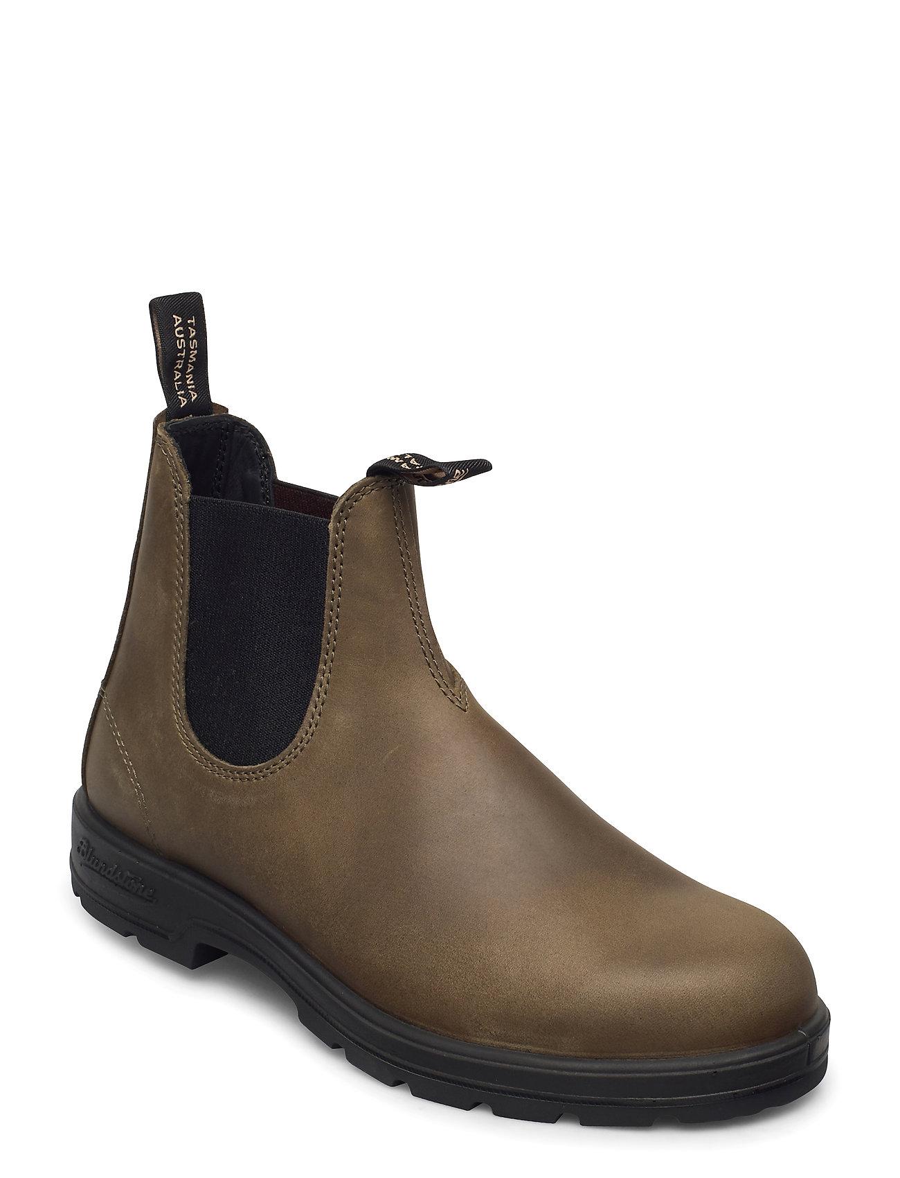 Image of Bl Elastic Sided Boot Lined Støvlet Chelsea Boot Grøn Blundst (3452234325)