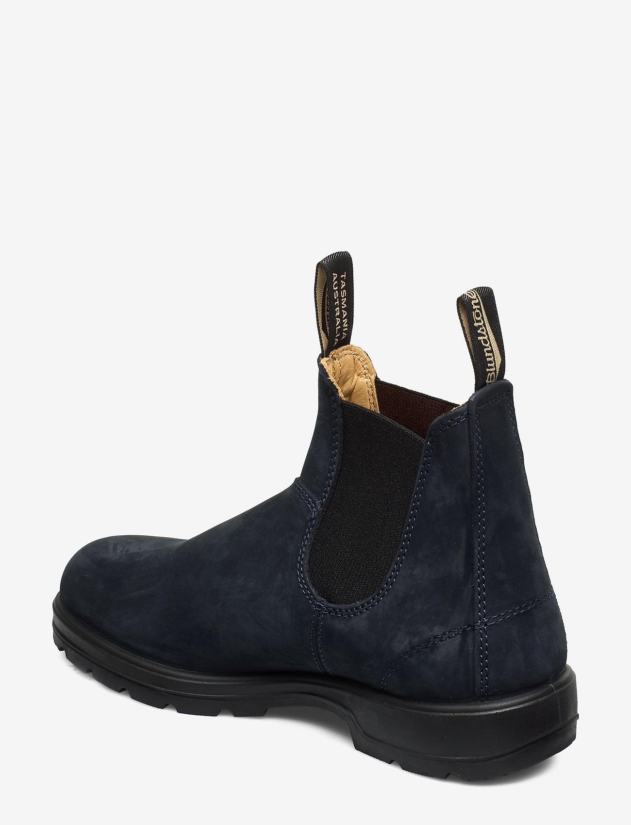 Bl Elastic Side Boot Lined (Navy Nubuck) (1500 kr) - Blundstone