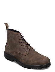 BL LACE UP LEATHER BOOT - RUSTIC BROWN