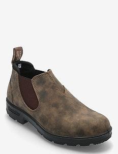 BL SLIP ON SHOE - flade ankelstøvler - rustic brown