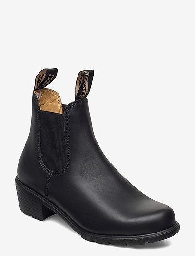 BL WOMENS ELASTIC SIDED HEEL BOOT - ankelstøvler med hæl - black